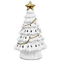 """11"""" Pre-Lit Ceramic Hollow Christmas Tree with LED Lights"""