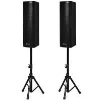 2000W Set of 2 Bi-Amplified Speakers with USB/SD Card Input