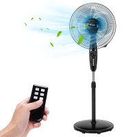 16 Inches Adjustable Height Fan with Quiet Oscillating Stand for Home and Office