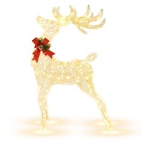 Lighted Standing Reindeer with Stakes for Christmas Decoration