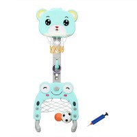 Adjustable Kids 3-in-1 Basketball Hoop Set Stand with Balls
