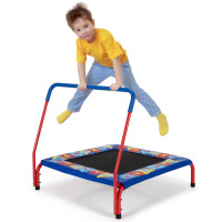 36 Inch Kids Indoor Outdoor Square Trampoline with Foamed Handrail