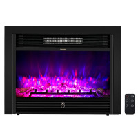 28.5 inch Recessed Mounted Standing Fireplace Heater with 3 Flame Option