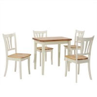 5 Piece Dining Folding Tabletop Set 4 Chairs