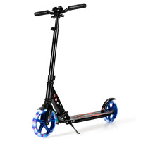 Aluminum Folding Kick Scooter with LED Wheels for Adults and Kids