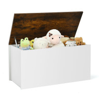 Flip-top Storage Chest with Self-hold Cover and Pneumatic Rod