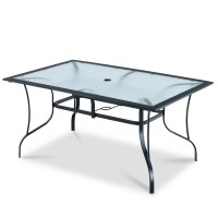 60 x 38 Inch All Weather Rectangular Patio Dining Table