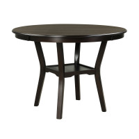 42 Inch 2-tier Round Dining Table with Storage Shelf