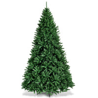 9 Feet Hinged Premium Artificial PVC Christmas Tree with Solid Metal Stand