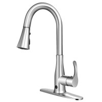 Touchless Kitchen Faucet with 360° Swivel Single Handle Sensor and 3 Mode Sprayer