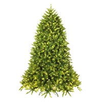 Premium Hinged Artificial Fir Christmas Tree with LED Lights
