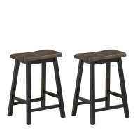 """24"""" Height Set of 2 Home Kitchen Dining Room Bar Stools"""