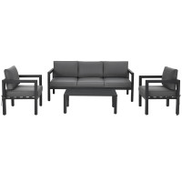 4-Piece Outdoor Furniture Set for Backyard and Poolside