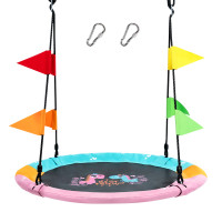 4 Inch Flying Saucer Tree Swing with Hanging Straps Monkey