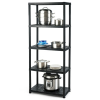 5-Tier Storage Shelving Freestanding Heavy Duty Rack in Small Space or Room Corner