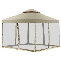 Outdoor 2-Tier 10' x 10' Screw-free Structure Shelter Gazebo Canopy