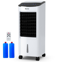 Evaporative Portable Air Cooler Fan Humidifier with Remote Control for Home and Office