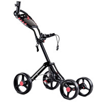 4 Wheels Folding Golf Pull Push Cart Trolley