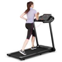 2.25HP Electric Folding Treadmill with HD LED Display and APP Control Speaker