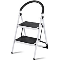 Folding Stool Heavy Duty Industrial Lightweight 2 Step Ladder