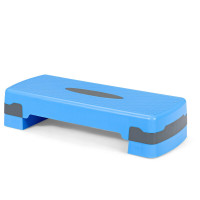 """26"""" Height Adjustable Aerobic Exercise Step Deck with Risers and Non-Slip Surface"""