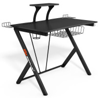 Multifunctional K-Shaped Gamer Desk with Display Support Plate