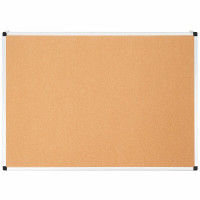 "44"" x 32"" Cork Notice Pin Board  with Aluminum Frame"