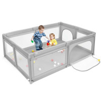 Extra-Large Safety Baby Fence with 50 Ocean Balls