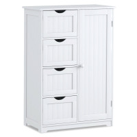 Standing Indoor Wooden Cabinet with 4 Drawers