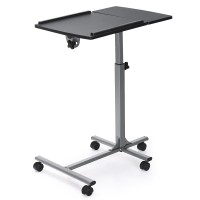 Adjustable Angle Height Rolling Laptop Table