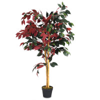 4-Feet Artificial Capensia Bush Indoor-Outdoor Leaves