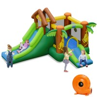 Kids Inflatable Jungle Bounce House Castle with Blower