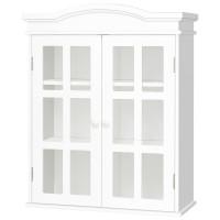 Wall-Mount Bathroom Double Doors Shelved Storage Cabinet