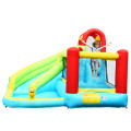 6 in 1 Inflatable Bounce House with Climbing Wall and Basketball Hoop without Blower