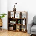 Open Compartments Industrial Freestanding Bookshelf