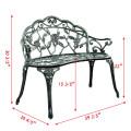 Aluminum Patio Outdoor Garden Bench Chair Loveseat Cast