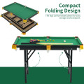 47 Inch Folding Billiard Table with Cues and Brush Chalk