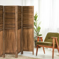 5.6 Ft Tall 4 Panel Folding Privacy Room Divider