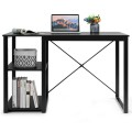 Computer Desk with Bamboo Top & 2 Storage Shelves