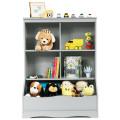 3-Tier Children's Multi-Functional Bookcase Toy Storage Bin Floor Cabinet