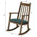 Children's Wooden Rocking Chair with Cushion