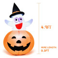 5 ft Halloween Blow-up Inflatable Ghost with LED Bulb