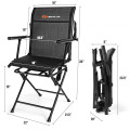 Swivel Hunting Chair Foldable Mesh Chair with Armrests