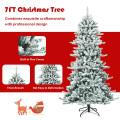 7 Feet Snow Flocked Slim Artificial Christmas Fir Tree