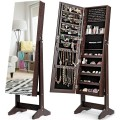 Standing Jewelry Armoire Cabinet with Full Length Mirror