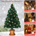 Pre-Lit Fiber Optical Firework Christmas Tree