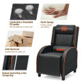 Massage Gaming Recliner Chair with Headrest and Adjustable Backrest for Home Theater