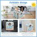 Foldable Baby Safety Play Yard with Lockable Gate