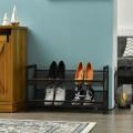 Adjustable to Flat or Slant Shoe Organizer Stand