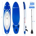 10' Inflatable Stand Up Paddle Surfboard with Bag